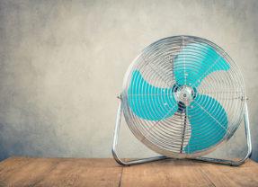 Een ventilator kun je maar beter in huis hebben!